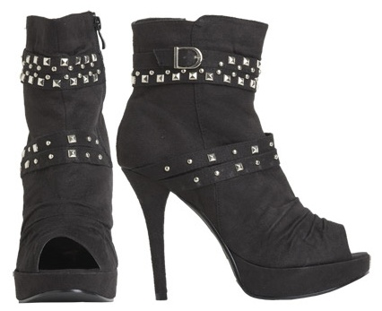 Studded Peep Toe Booties