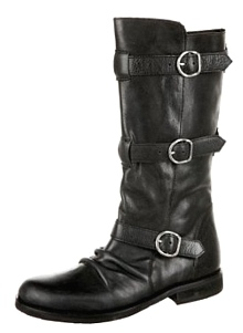 Portia Leather Triple Buckle Boot