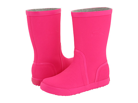 Hot pink rain boots - Lacoste Welby Fluo | Bootsaholic