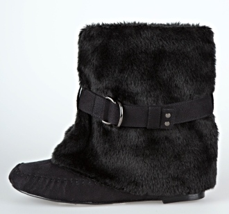 Belted Furry Mocassin