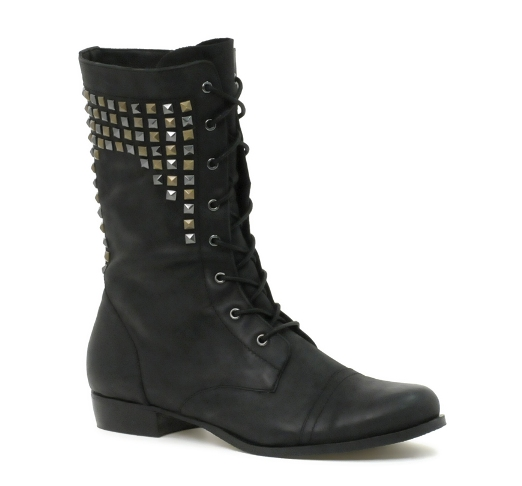 ASOS CLIVE Leather Studded Worker Boot
