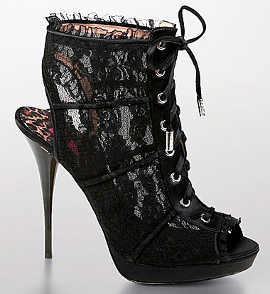 Betsey Johnson Alison lace bootie