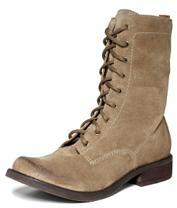 Mia lace-up suede boot