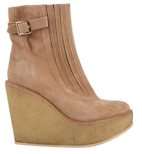 BEAU COOPS Suede platform wedge boots