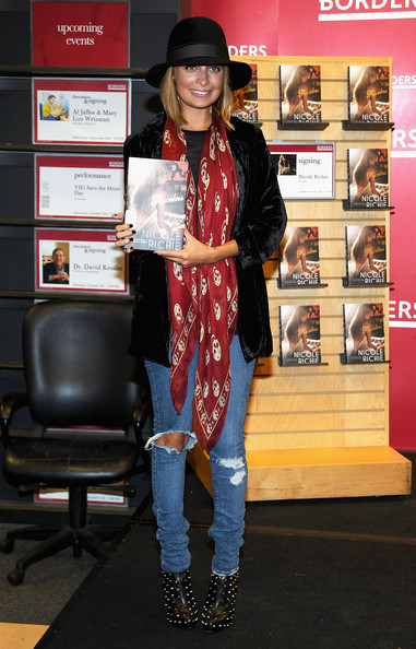 Nicole Richie in Christian Louboutin boots
