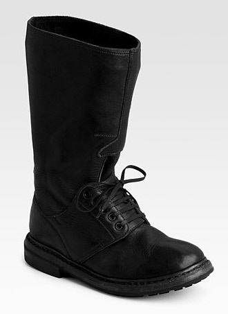 Burberry Prorsum Mid-Shaft Lace-Up Flat Boots