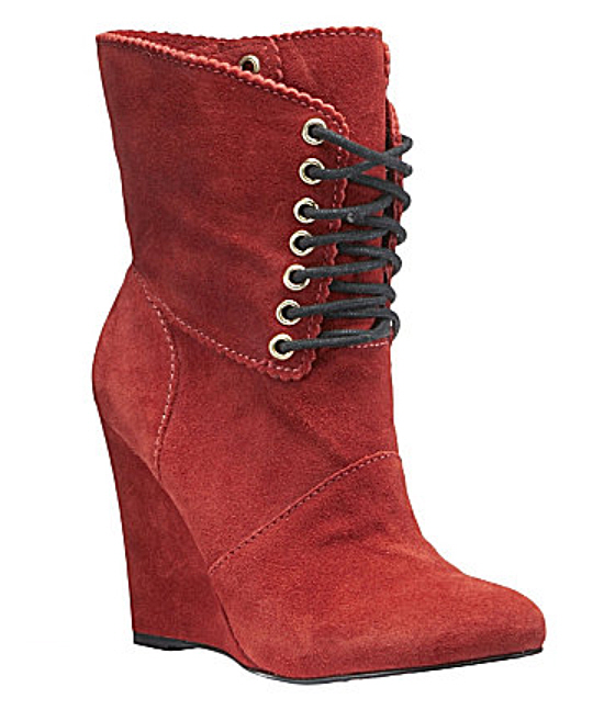 wedge suede boot