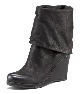 Prada Fold-Over Wedge Bootie