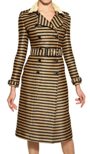 Burberry Prorsum Raffia Trench Coat