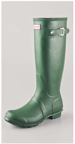 green hunter rain boots